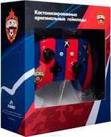 Беспроводной джойстик Xbox One Wireless Controller ФК ЦСКА «Красно-синий» с 3,5-мм стерео-гнездом для гарнитуры и Bluetooth