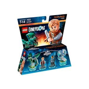 LEGO Dimensions Team Pack - Jurassic World (Velociraptor, Owen, ACU, Gyrosphere)