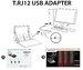 Переходник Thrustmaster T.RJ12 USB Адаптер PS4
