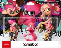 Amiibo. Набор 3 фигурки: Осьмолинг-девочка + Осьмолинг-мальчик +Осьмолинг-осьминог «Splatoon Collection»