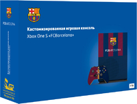 Кастомизированная игровая приставка Microsoft Xbox One S 1TB «Барселона»