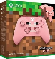 Беспроводной джойстик Xbox One Wireless Controller «Minecraft Pig» с 3,5-мм стерео-гнездом для гарнитуры и Bluetooth