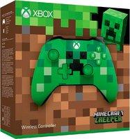Беспроводной джойстик Xbox One Wireless Controller «Minecraft Creeper» с 3,5-мм стерео-гнездом для гарнитуры и Bluetooth