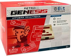 Игровая приставка «Retro Genesis 8 Bit Wireless» + 300 игр