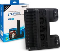 Подставка вертикальная DOBE «PS4 Series Multi-Functional Cooling Stand» для PS4 Slim/PS4 Pro модель: TP4-882