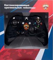 Беспроводной джойстик Xbox One Wireless Controller ФК ЦСКА «Черный камуфляж» с 3,5-мм стерео-гнездом для гарнитуры и Bluetooth