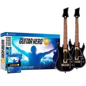 Гитара [2шт] + Игра «Guitar Hero Live» [PS4]