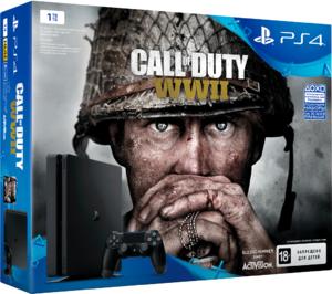 Игровая приставка Sony PlayStation 4 Slim 1TB + Call Of Duty WW II