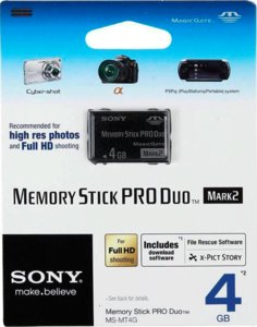 Карта Памяти Sony Memory Stick Pro Duo HX 4GB «Original»