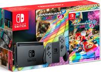 Игровая приставка Nintendo Switch «серый цвет» обновленная версия + Mario Kart 8 Deluxe
