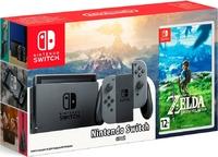 Игровая приставка Nintendo Switch «серый цвет» Обновленная версия + The Legend of Zelda: Breath of the Wild