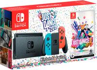 Игровая приставка Nintendo Switch  «неоновый красный/неоновый синий» Обновленная версия + Just Dance 2019