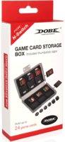Кейс «Dobe» для хранения 24 игровых карт + набор силиконовых накладок для Joy-Con «tns-1844»
