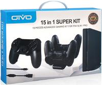 Набор аксессуаров OIVO 15 в 1 «Super Kit» для PS4 Slim/PS4 Pro Модель IV-P4T01