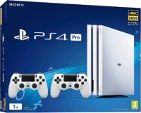 PlayStation 4 Pro 1Tb + 2 Джойстика DualShock 4 «Белый Цвет»