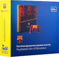 Кастомизированная игровая приставка Sony PlayStation 4 Slim 1TB «Барселона»