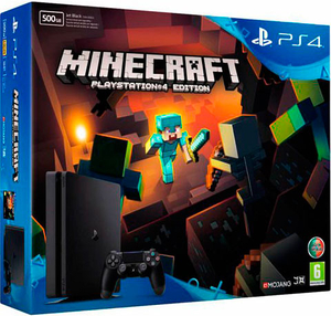Игровая приставка Sony PlayStation 4 Slim 500GB + Minecraft PS4 Edition
