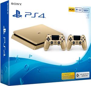 Playstation 4 Slim 500GB + DualShock 4 «Золотой Цвет» Прошивка 4.55