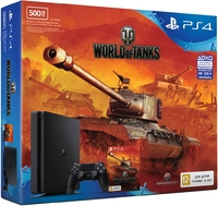 PlayStation 4 Slim 500GB + World of Tanks