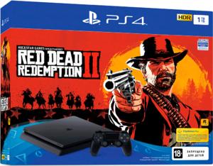 Игровая приставка Sony PlayStation 4 Slim 1TB + Red Dead Redemption 2