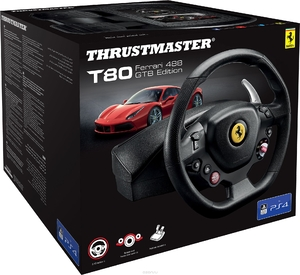 Руль с педалями Thrustmaster T80 Ferrari 488 GTB Edition PS4/PC