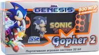Игровая приставка Sega Genesis Gopher 2 «оранжевый цвет» + 500 встроенных игр