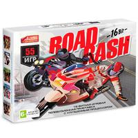Игровая приставка Sega Super Drive Road Rash  + 55 встроенных игр
