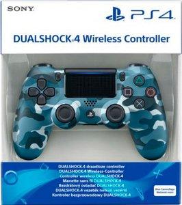Беспроводной джойстик DualShock 4 Blue Camouflage «Синий камуфляж» версия 2