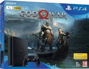Игровая приставка Sony PlayStation 4 Slim 1TB + God Of War
