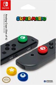 Сменные накладки Super Mario для консоли Nintendo Switch (NSW-036U) красный/зеленый/синий/желтый