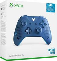 Беспроводной джойстик Xbox One Wireless Controller «Sport Blue» с 3,5-мм стерео-гнездом для гарнитуры и Bluetooth