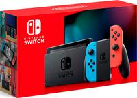 Игровая приставка Nintendo Switch «неоновый красный/неоновый синий» Обновленная версия