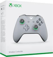 Беспроводной джойстик Xbox One Wireless Controller «серо-зеленый» с 3,5-мм стерео-гнездом для гарнитуры и Bluetooth