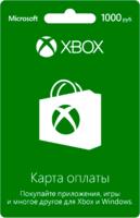 Карта оплаты XBOX Live 1000