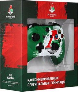 Беспроводной джойстик Xbox One Wireless Controller ФК Локомотив «Чемпионский Экспресс» с 3,5-мм стерео-гнездом для гарнитуры и Bluetooth