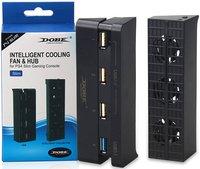 Набор аксессуаров DOBE: Система охлаждения Cooling Fan + Разветвитель USB HUB для PS4 Slim Модель TP4-896