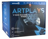 Игровой руль Artplays V-1200 Vibro Premium Leather Edition