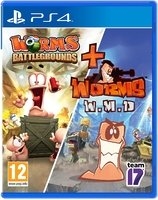 Worms Battlegrounds + Worms W.M.D. Double Pack [PS4]