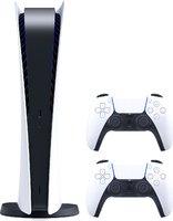 Игровая приставка Sony PlayStation 5 Digital Edition с двумя геймпадами DualSense