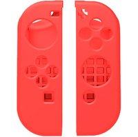 Силиконовые чехлы для 2-х контроллеров Joy-Con Неоновый-Красный Цвет