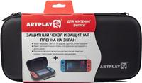 Защитный чехол с пленкой Artplays для Nintendo Switch Черный Цвет